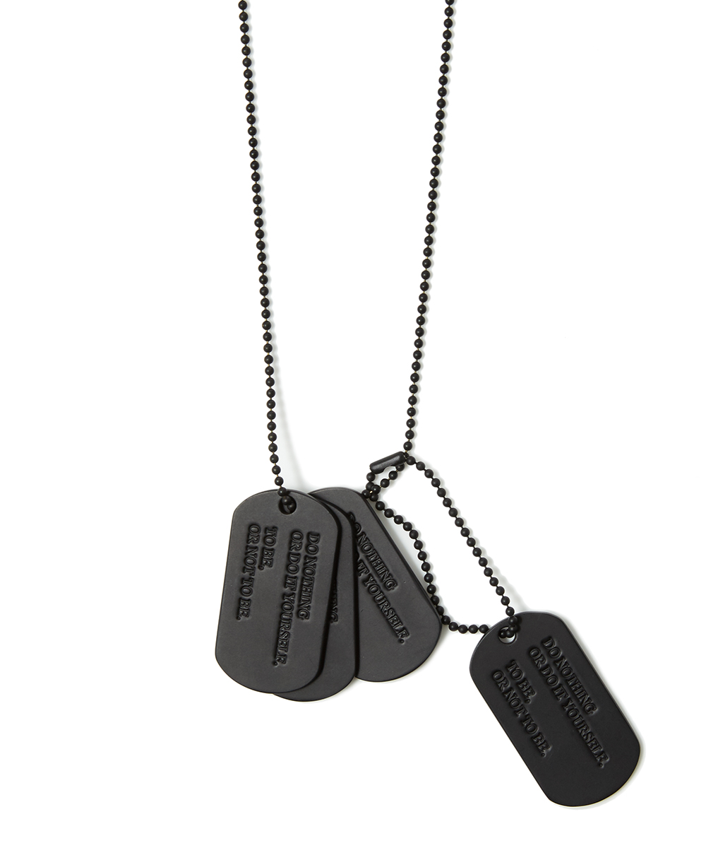 DOG TAG NECKLACE BRASS