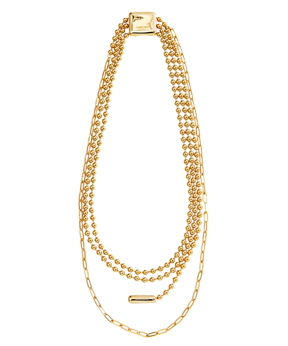 TRIPLE BALL CHAIN NECKLACE