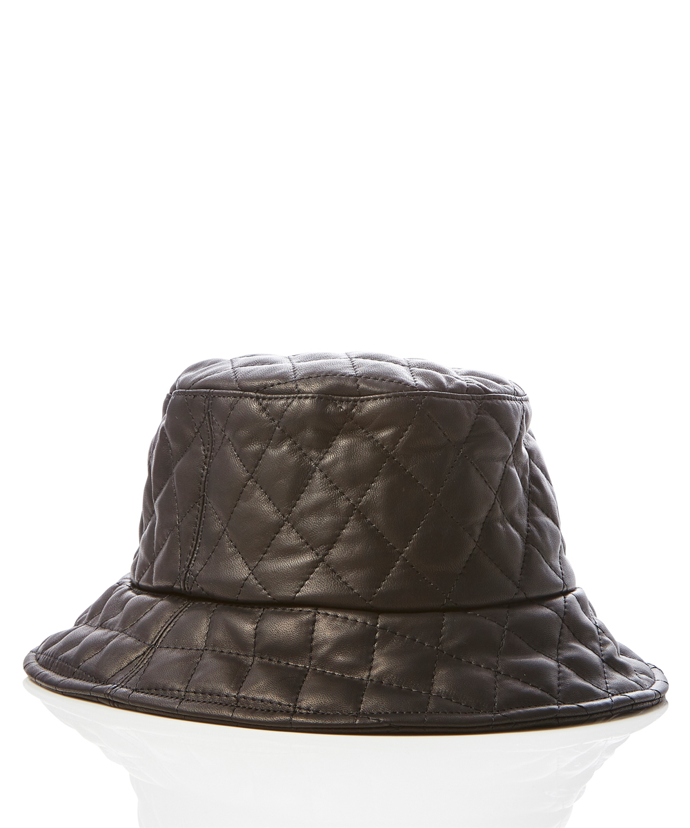 HORSE LEATHER QUILTING BUCKET HAT