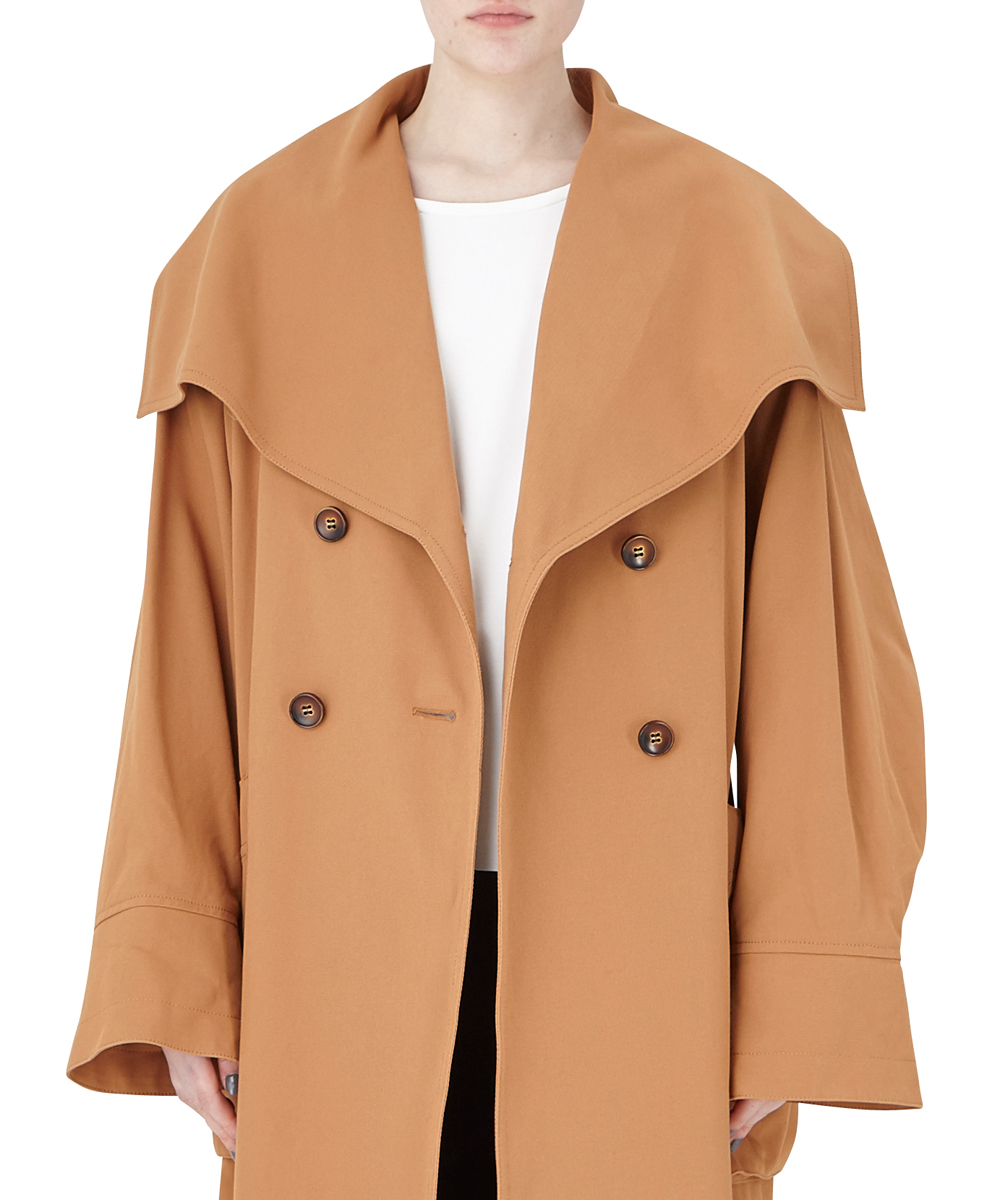 OVERSIZE COAT WITH LARGE COLLAR