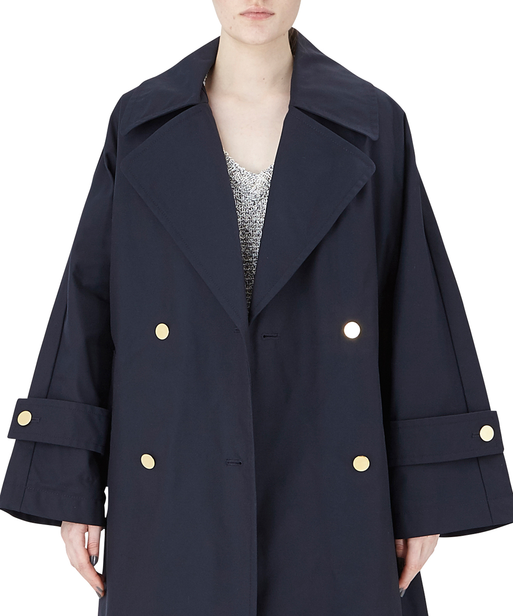 OVERSIZE COAT WITH BUCKLE FASTENING